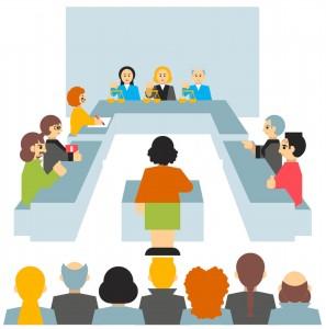 Für Zeugen: Beteiligte Personen im Prozess